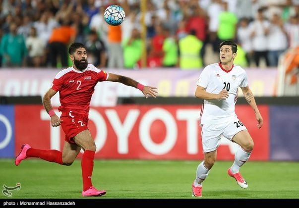 لقاء منتخبي إيران وسوريا لكرة القدم5