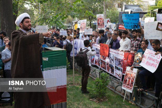 جامعيون يعتصمون امام مكتب الامم المتحدة بطهران5