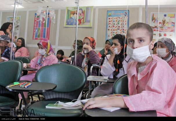 Opening Bell of New School Year Rung for Cancer Kids in Iran7