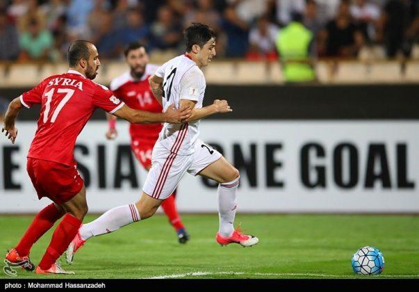 لقاء منتخبي إيران وسوريا لكرة القدم8