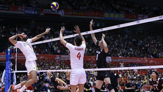 إيران تهزم اليابان في بطولة كأس الابطال للكرة الطائرة