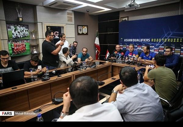 المؤتمر الصحفي التقديمي لمباراة ايران وسوريا9