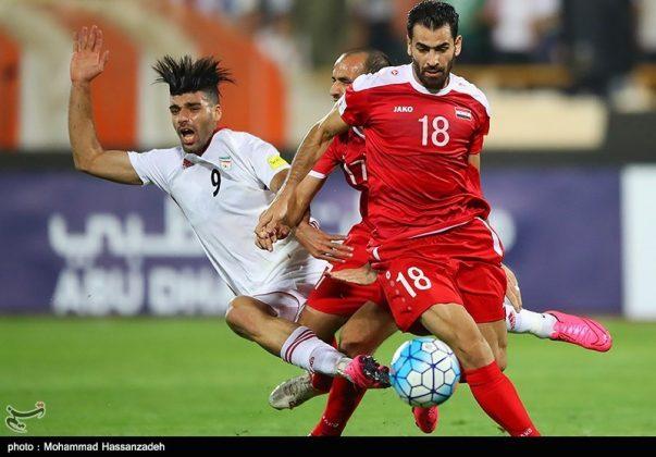 لقاء منتخبي إيران وسوريا لكرة القدم9