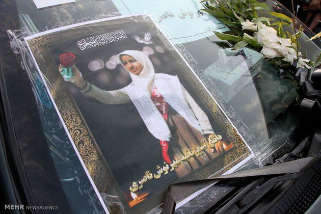 ايران .. مراسيم تشييع جثامين تلميذات لقين مصرعهن بحادث 9