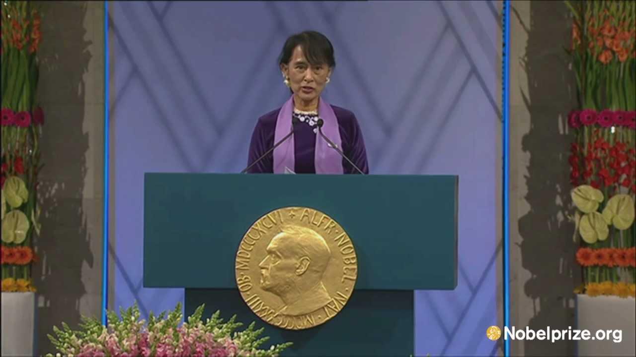 Aung san suu kyi nobel peace prize 1991