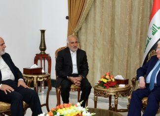 الرئيس العراقي يلتقي السفير الإيراني في بغداد