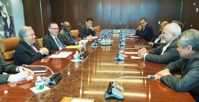 Iranian FM Meets Top UN Officials in New York