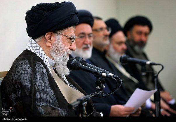 القائد الخامنئي يستقبل مسؤولي الحج في ايران10