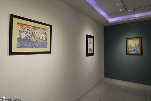 برگزاری نمایشگاه نقاشی سه خواهر افغان در تهران11