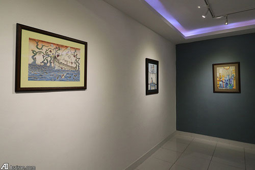 3 Afghan Sisters Exhibiting Surreal Artworks in Tehran11