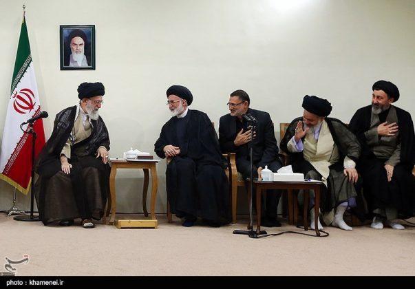 القائد الخامنئي يستقبل مسؤولي الحج في ايران11