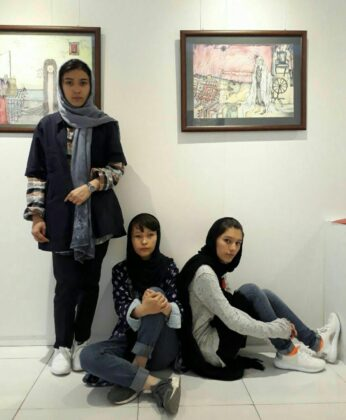 3 Afghan Sisters Exhibiting Surreal Artworks in Tehran12