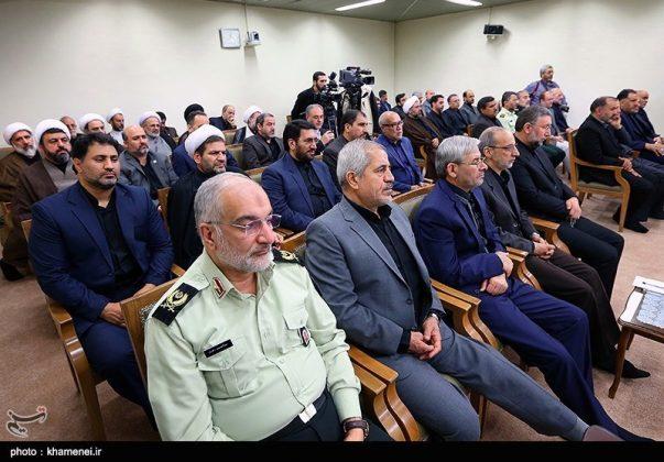 القائد الخامنئي يستقبل مسؤولي الحج في ايران13