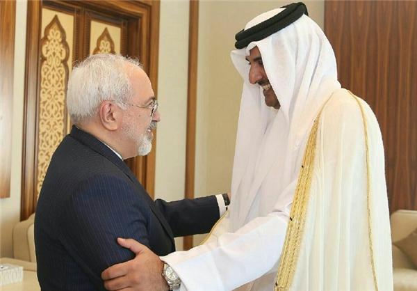وزير الخارجية الايراني يلتقي أمير قطر