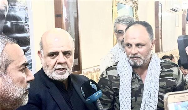 سفير إيران في العراق يلتقي بقوات حركة النجباء