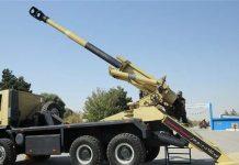 ازاحة الستار عن مدفع عاشوراء المتحرك عيار 155 مليمترفي ايران