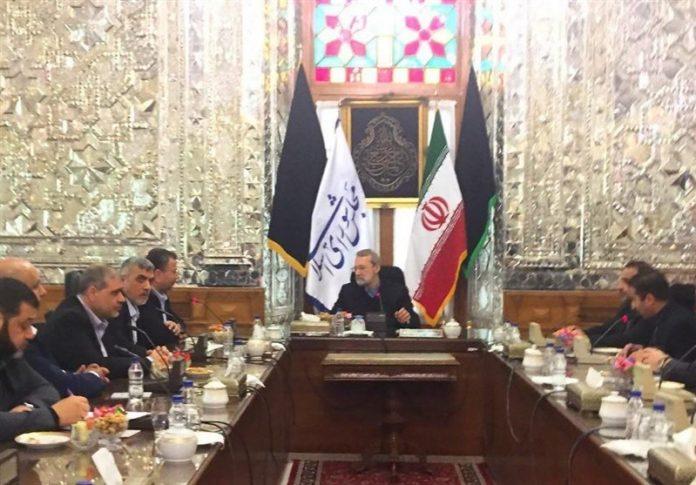رئيس البرلمان الايراني يستقبل رئيس المكتب السياسي لحماس