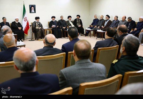 القائد الخامنئي يستقبل مسؤولي الحج في ايران14
