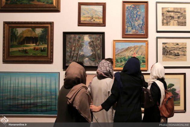افتتاح نمایشگاه آثار نقاشی70 سال اخیر در فرهنگسرای نیاوران15