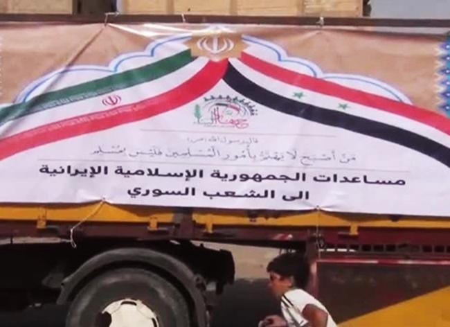 قافلة جديدة من المساعدات الايرانية تصل الى ديرالزور