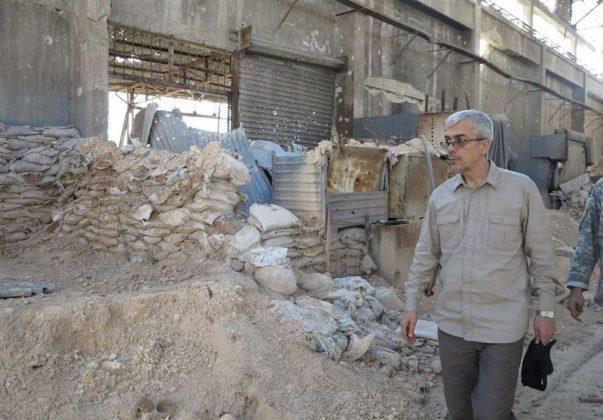 زيارة رئيس هيئة الاركان الايرانية لمناطق العمليات بسوريا2