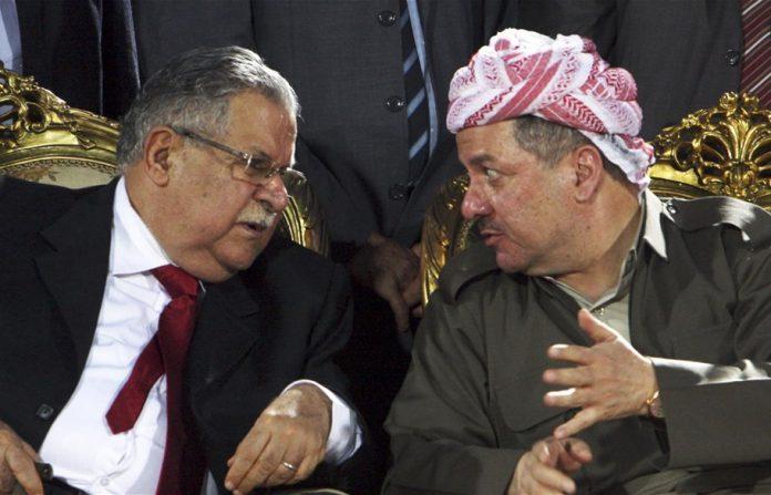 مسعود بارزانی و جلال طالبانی