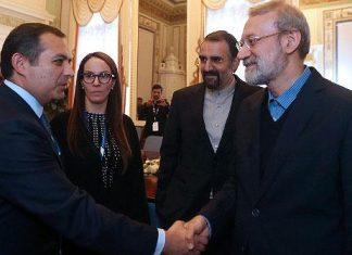 دیدار دکتر لاریجانی با رئیس پارلمان مکزیک