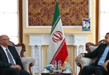 مساعد رئيس البرلمان الايراني يلتقي رئيس مكتب رعاية المصالح المصرية بطهران