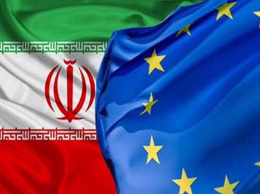 Iran-Europe flags