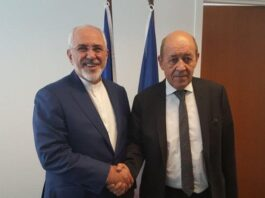 Iranian, French FMs Discuss JCPOA, Regional Issues