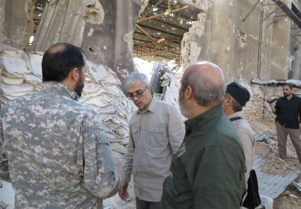 زيارة رئيس هيئة الاركان الايرانية لمناطق العمليات بسوريا3