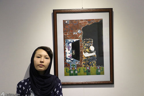 3 Afghan Sisters Exhibiting Surreal Artworks in Tehran3