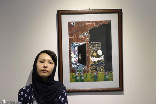 3 Afghan Sisters Exhibiting Surreal Artworks in Tehran3