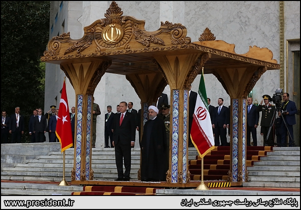 Turkish president arrives in Tehran for talks with Iranian officials