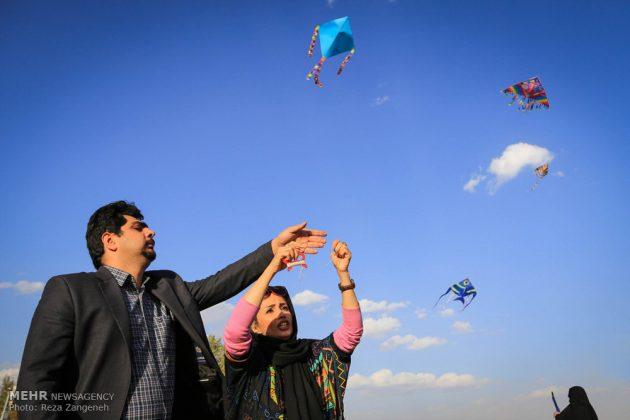 احتفال الطائرات الورقية في همدان الايرانية 4