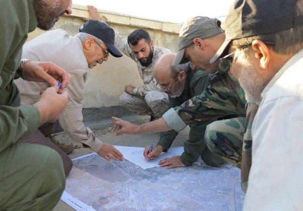 زيارة رئيس هيئة الاركان الايرانية لمناطق العمليات بسوريا4