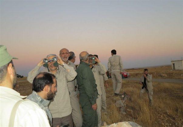زيارة رئيس هيئة الاركان الايرانية لمناطق العمليات بسوريا5