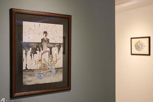 3 Afghan Sisters Exhibiting Surreal Artworks in Tehran5