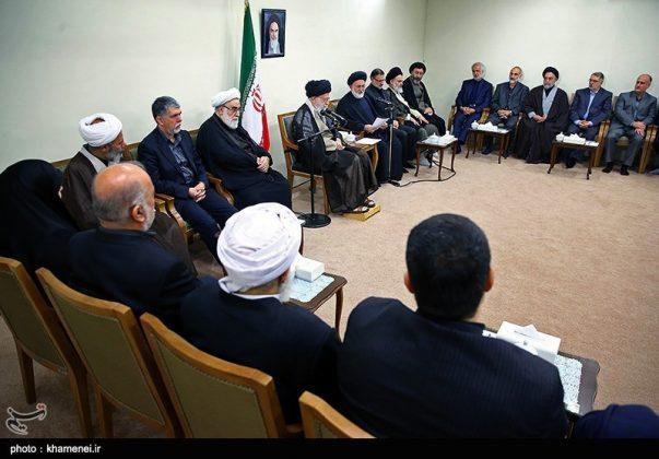 القائد الخامنئي يستقبل مسؤولي الحج في ايران5