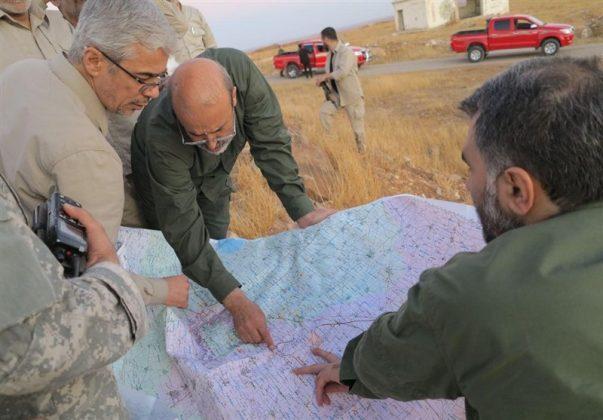 زيارة رئيس هيئة الاركان الايرانية لمناطق العمليات بسوريا6
