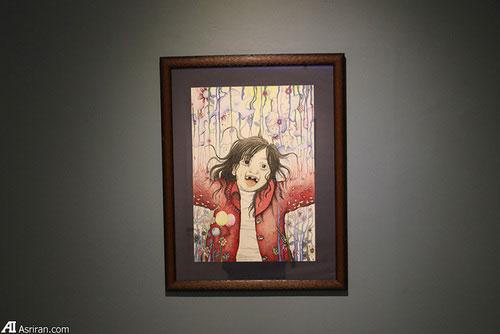 برگزاری نمایشگاه نقاشی سه خواهر افغان در تهران6