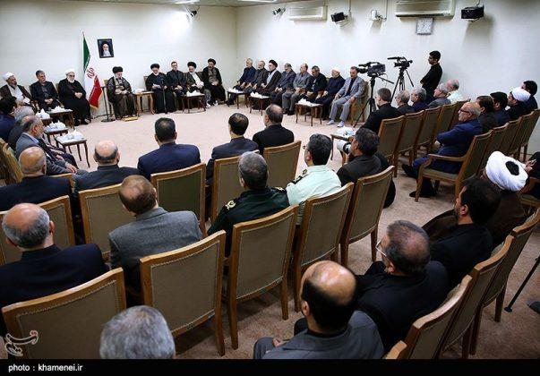 القائد الخامنئي يستقبل مسؤولي الحج في ايران6
