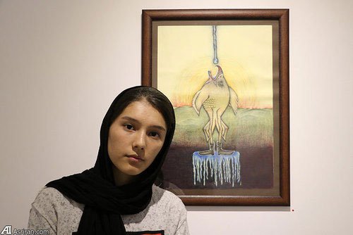3 Afghan Sisters Exhibiting Surreal Artworks in Tehran8