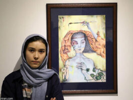 3 Afghan Sisters Exhibiting Surreal Artworks in Tehran9