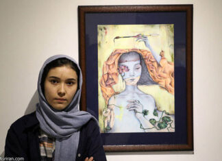 3 Afghan Sisters Exhibiting Surreal Artworks in Tehran9