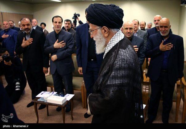 القائد الخامنئي يستقبل مسؤولي الحج في ايران9