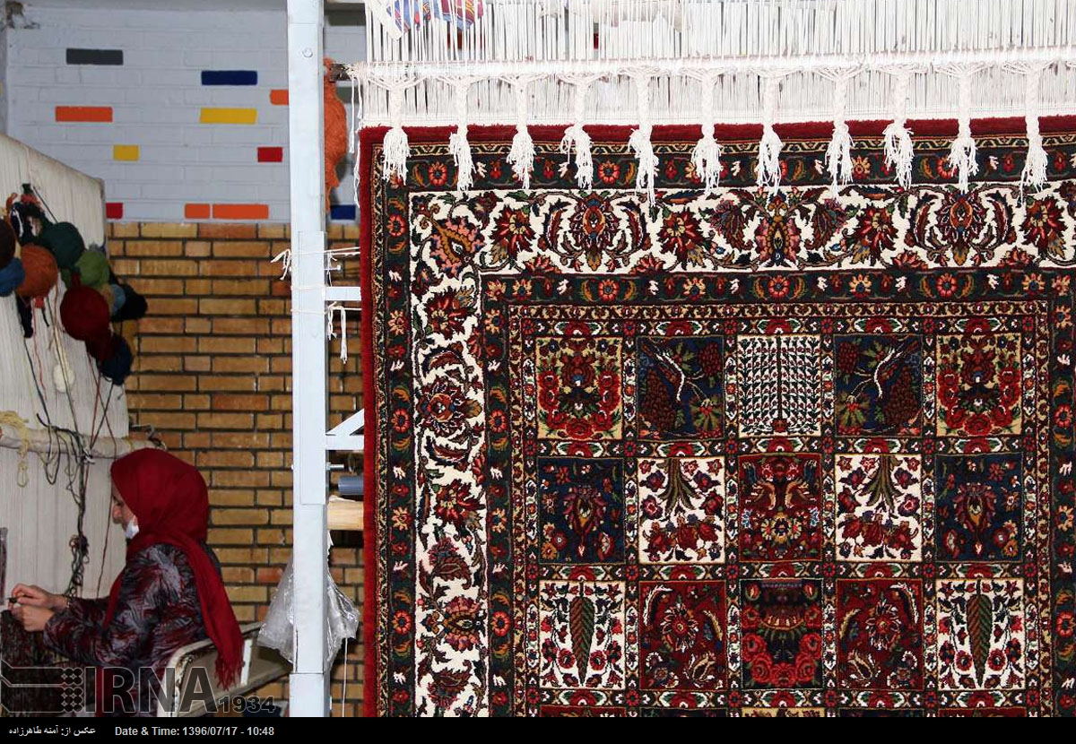 Local Women In Iran Make A Living By Carpet Weaving