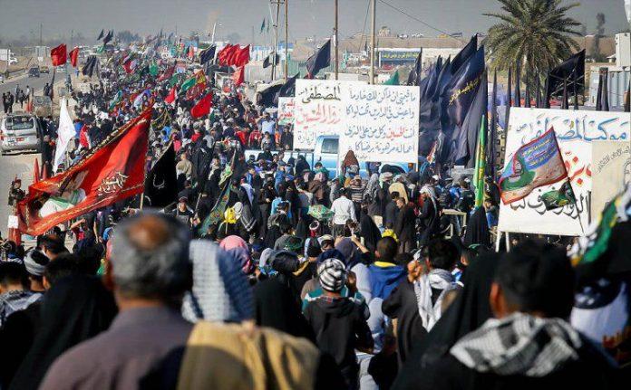 إرسال نذور سكان العاصمة طهران إلی المواکب الحسینیة في کربلاء
