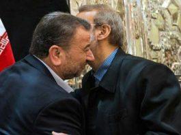 كبار القادة الإيرانيين يفرشون السجاد الأحمر أمام وفد حماس القيادي