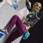 Iranian Woman Wins Gold at Asian Rock Climbing Cup